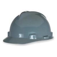 MSA V-Gard Gray Ratchet Hard Hat - 475364