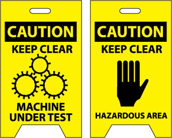 Caution Keep Clear Machine Under Test Jendco Safety Supply