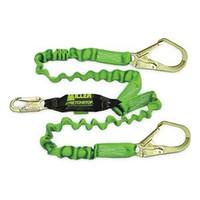 Miller 6 ft. StretchStop Double Leg Lanyard w/SofStop Shock Absorber -1 Snap Hookd and 2 Rebar Hooks - 8798RSS-Z7/6FTGN