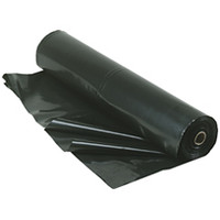 4 Mil 20x100 Black Poly Sheeting