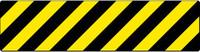 FLOOR SIGN, WALK ON, BLACK/YELLOW STRIPE, 6X24