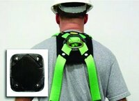 """Removable Back D-Ring Pad 7""""x8"""""""