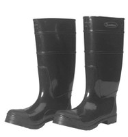 "Black 16"" PVC Boots with Steel Toe [Choose Size]"