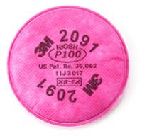 3M 2091 P100 Filter - Pair