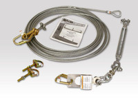 Miller SkyGrip Stainless Horizontal Lifeline Kit with Anchor Shackles [20FT-360FT]
