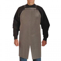 """Stainless Steel Mesh Split Leg Apron 26""""x34"""" - A2634 S/L"""