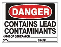 Danger Lead Generator Labels - 3x5 - 500/Roll