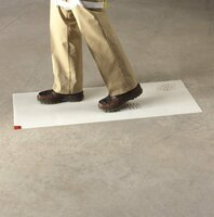 3M White Clean-Walk Mat 18 in x 36 in [240 Sheets] 5836