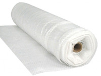 6 Mil 40x100 Fire Rated String Reinforced Poly Sheeting