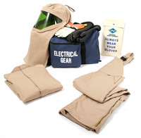 NSA ArcGuard® 25 cal/cm² Arc Flash Kit UltraSoft® Short Coat & Bib Overalls