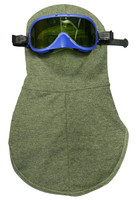 NSA 27 Cal Carbon Kevlar® Arc-Rated Knit Hood with Goggle - HRC 3