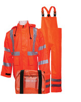 NSA Orange Class 3 Arc H20 Flame Resistant Rainwear Kit - HRC 2