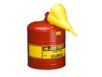 Justrite 5 Gallon Type 1 Gasoline Self-Closing Lid Safety Can 7150110