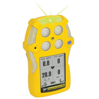 BW GasAlertQuattro Rechargeable Multi-Gas Detector QT-XWHM-R-Y-NA [LEL, o2, co, H2S]