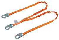 Miller Titan™ II 6 ft. Double Leg Tubular Shock-Absorbing Lanyard w/Locking Snap Hooks T5121-Z7/6FTAF
