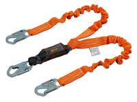Miller Titan™ II 6 ft. Double Leg Stretch Pack-Type Shock-Absorbing Lanyard w/Locking Snap Hook T6121SS-Z7/6FTAF