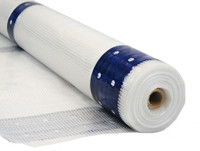 "10 Mil Scaf-Lite 7'4"" x 136' Flame Retardant Clear Scaffold Sheeting with Reinforced Eyelets"