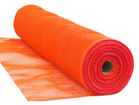 "Orange Flame Retardant 1/4"" Mesh Debris Netting - 5'6"" x 150'"