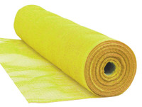 "Yellow Flame Retardant 1/4"" Mesh Debris Netting - 10'6"" x 150'"
