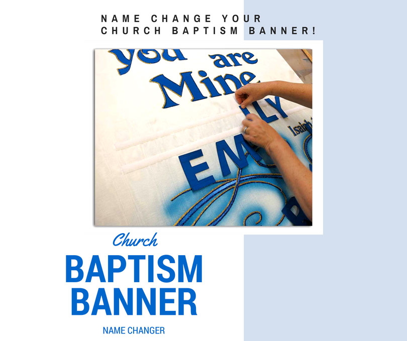 Church Baptism Banner with changeable name