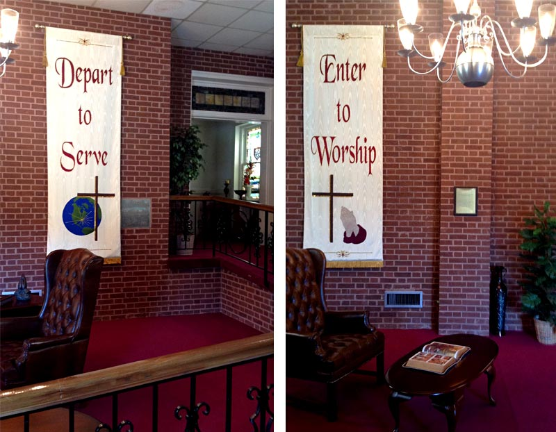 Depart to Serve worship banners