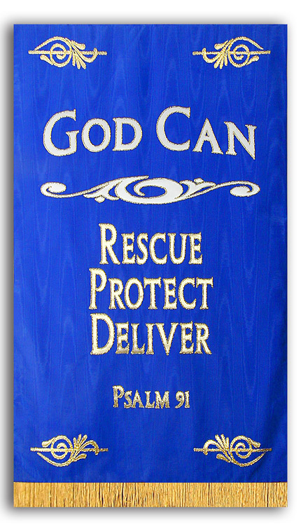 God Can Rescue Protect Deliver Banner