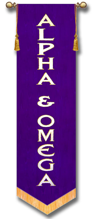 Alpha and Omega Church Praise Banner