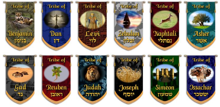 12 Tribes of Israel Church Banner Set