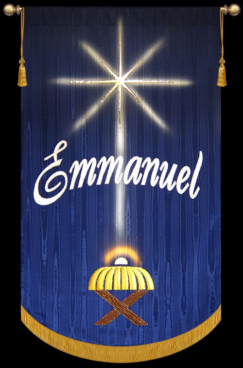 Emmanuel Creche Christmas Church Wall Hanging