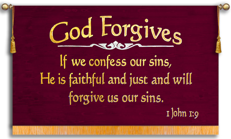 Christian bar of soap banner God forgives