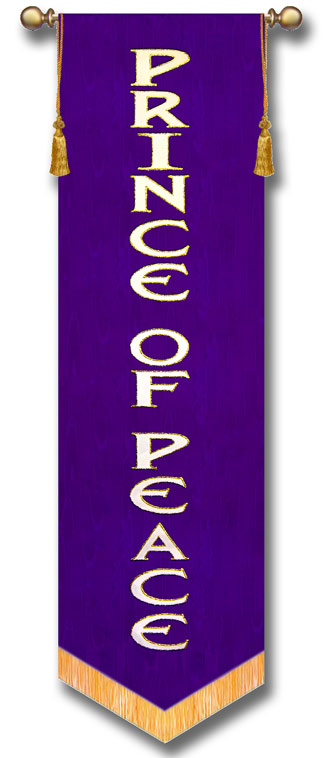 Prince of Peace Vertical Praise Church Banner