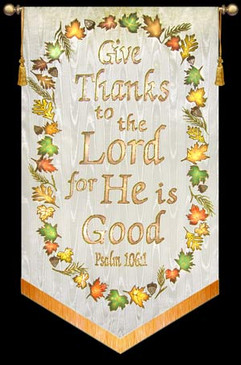 Give Thanks to the Lord for He is Good - Cream, with Wreath