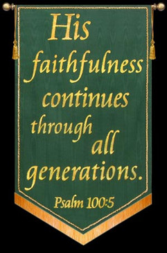 His faithfulness continues - Green