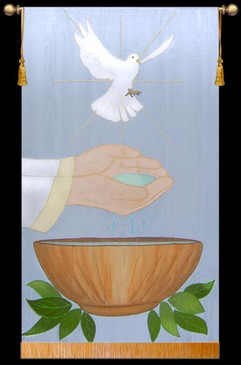 Baptism Dove and Bowl