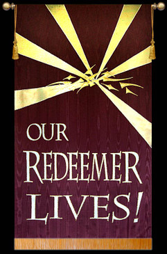 Our Redeemer Lives - Crown - Burgundy
