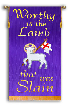 Worthy is the Lamb that was Slain - Lamb with Flag