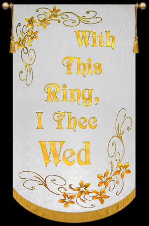with this ring i thee wed wedding banner image 1 - With This Ring I Thee Wed