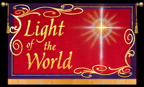 Light of the World with Star - Horizontal Christmas Banner