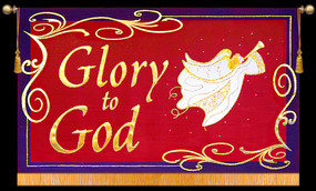 Glory to God with Angel - Horizontal