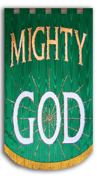 Mighty God church worship banner