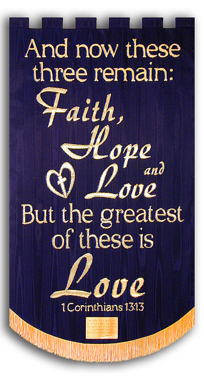 Faith, Hope, & Love Memorial Banner