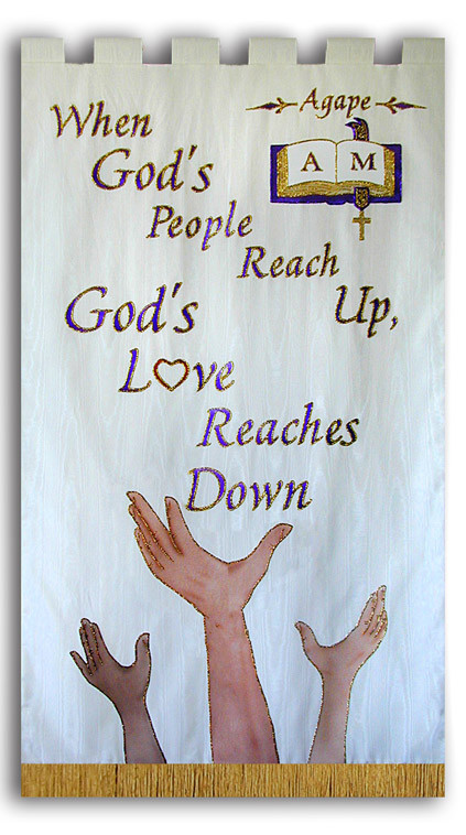 When God's People Reach Up Agape Banner