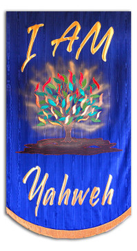 I AM Yahweh with Burning Bush Processional Praise Banner