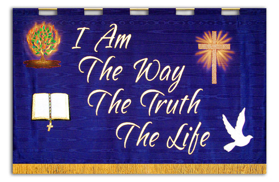 I Am The Way, The Truth, The Life horizontal church wall Banner