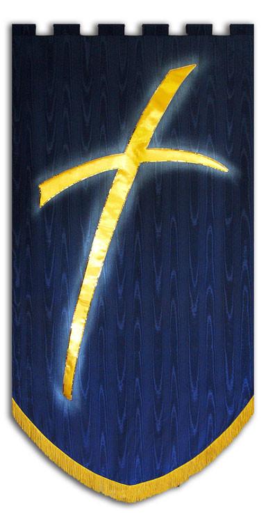 modern cross symbol banner