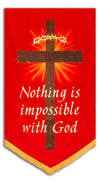 Nothing is Impossible with God Luke 1:37 Banner