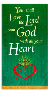 Love the Lord your God with all your Heart - Heart and cross banner