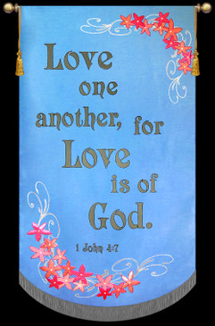 Church Banner - Wedding - Love - 7' x 48""