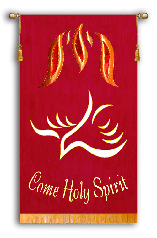 Come Holy Spirit Dove Church Pentecost Banner