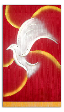Holy Spirit Dove - with Gold Swirls
